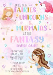 Mermaid Unicorn Fairy Invitation